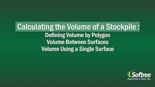 Learn how to use Terrain Tools 3D to calculate earthwork volumes for stock piles using various methods: (1) volume between surfaces and (2) volume using a single surface.